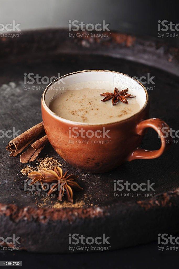 masala tea stock photo