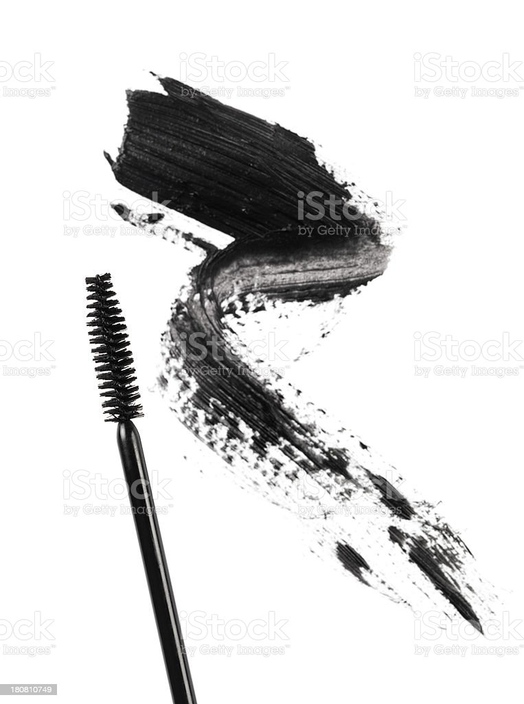 Mascara and Smudge royalty-free stock photo