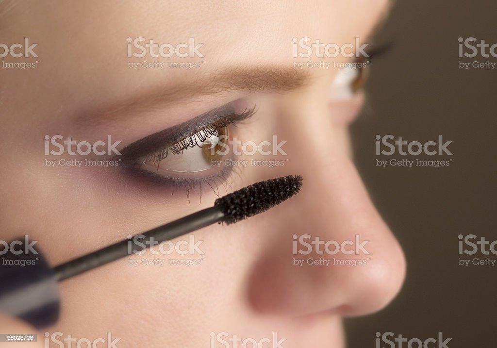 mascara application royalty-free stock photo