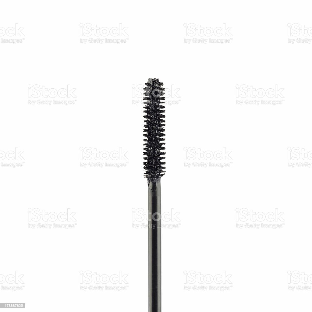 mascara brush isolated stock photo