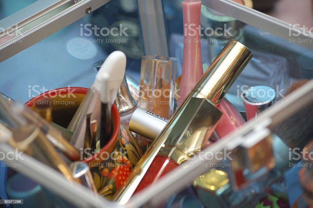 mascara  in a box royalty-free stock photo