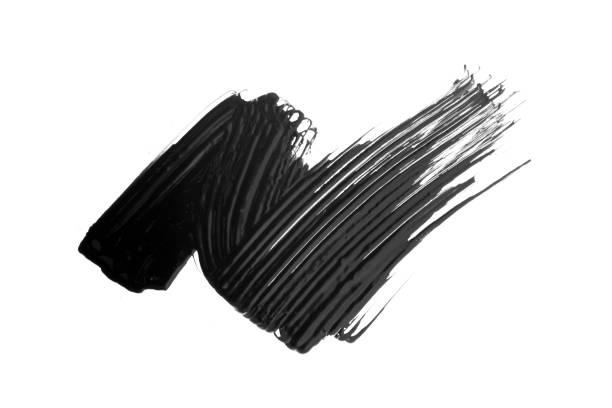 mascara textuur met witte achtergrond - bevlekt stockfoto's en -beelden