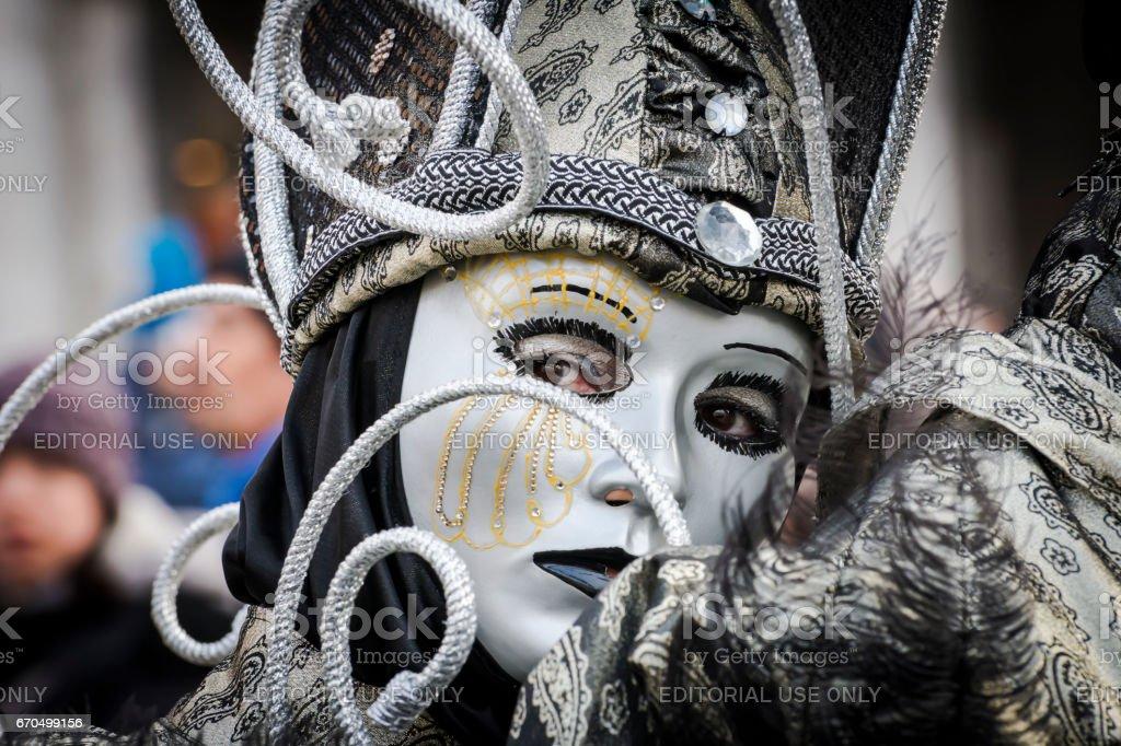 maschera veneziana stok fotoğrafı
