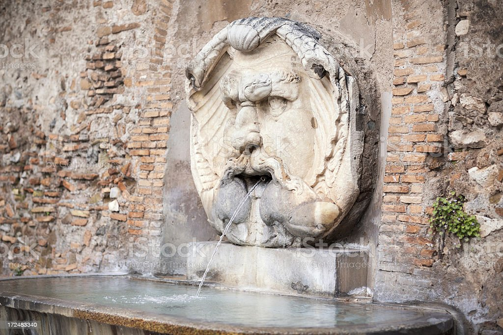 Mascherone di Santa Maria fountain, Rome Italy stock photo