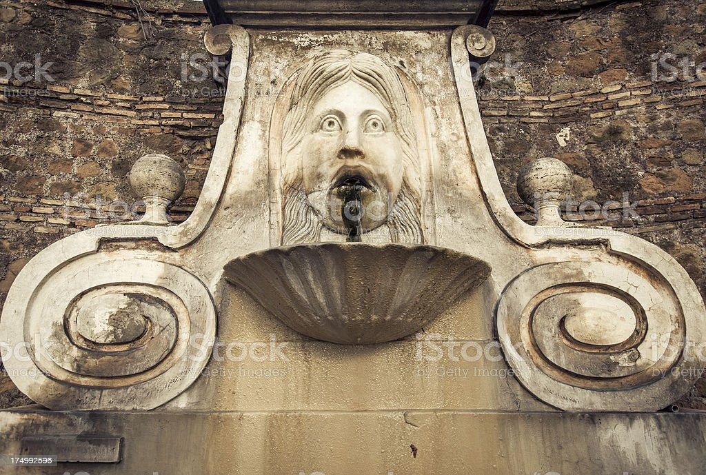 Mascherone Fountain in Rome stock photo