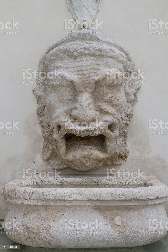 Fontana del Mascherone stock photo