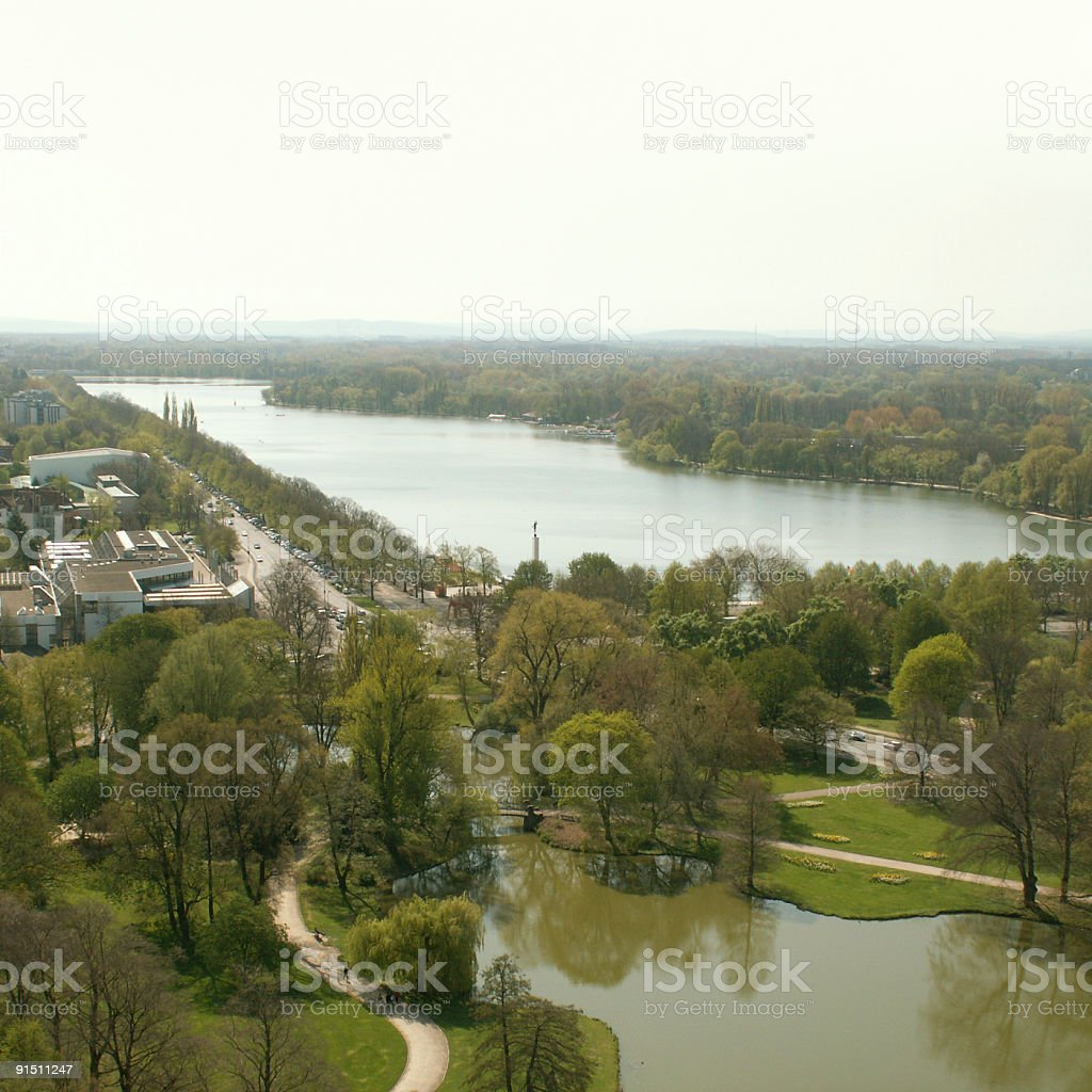 Maschsee in Hannover stock photo