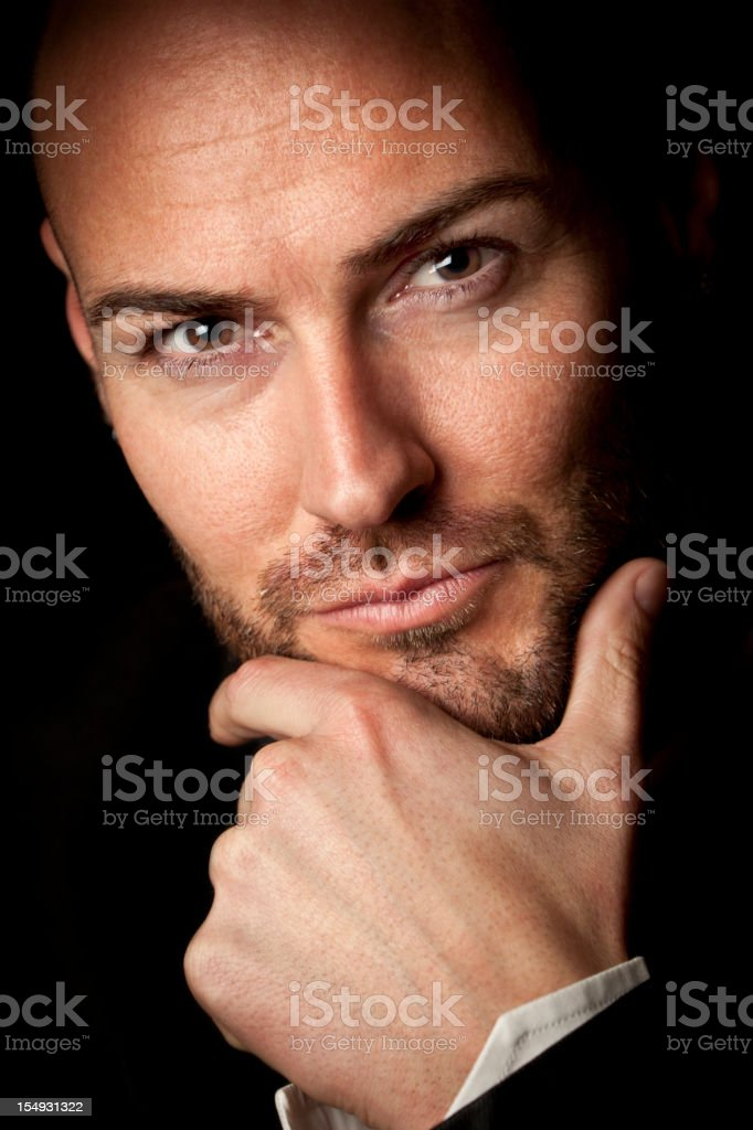 Masculine charisma royalty-free stock photo
