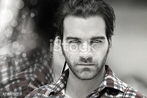 istock Masculine man face 471647577
