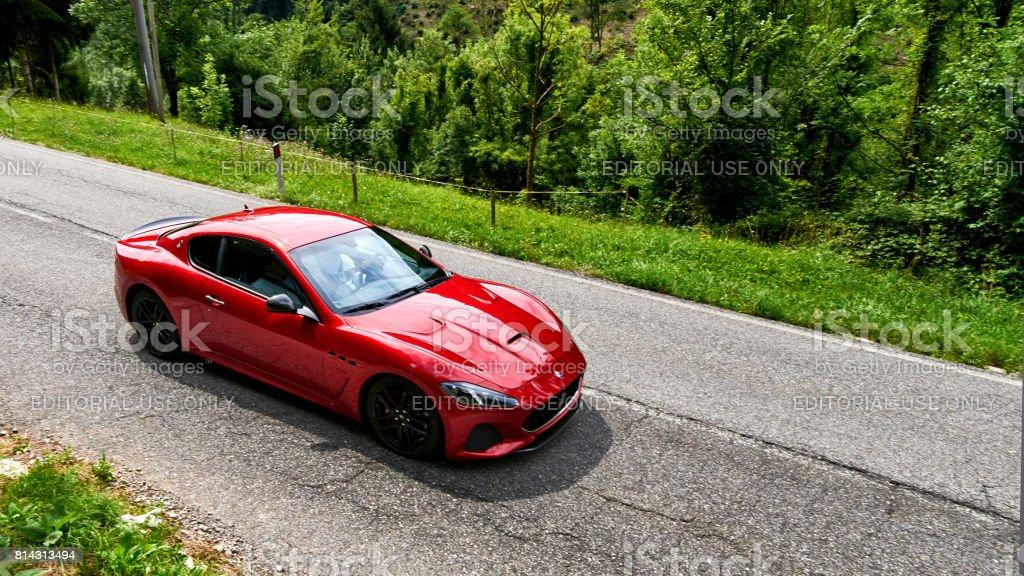 Maserati drive test stock photo