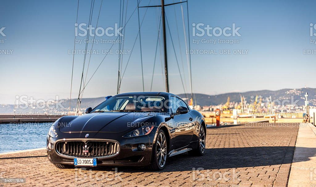 Maserati GranTurismo S Muggia, Italy - October 2, 2013: MUGGIA, ITALY MARCH 16, 2013: Photo of a exhibition of Maserati GranTurismo S . The Maserati GranTurismo is a two-door, four-seat coupe produced by the Italian car manufacturer Maserati. Advertisement Stock Photo