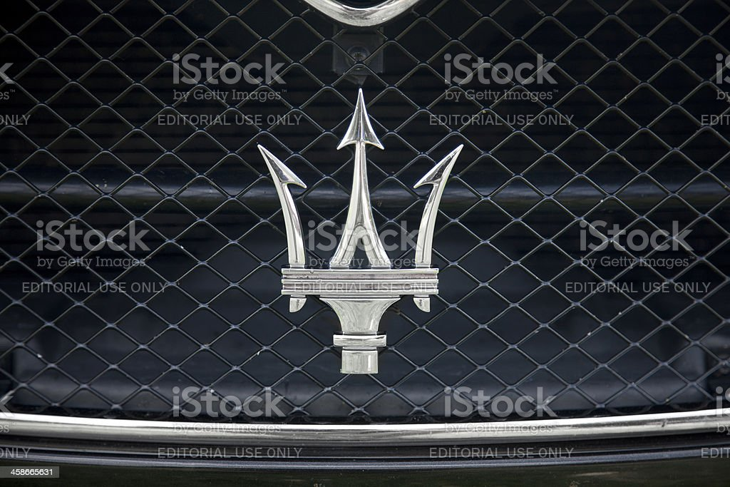 Maserati Logo stock photo