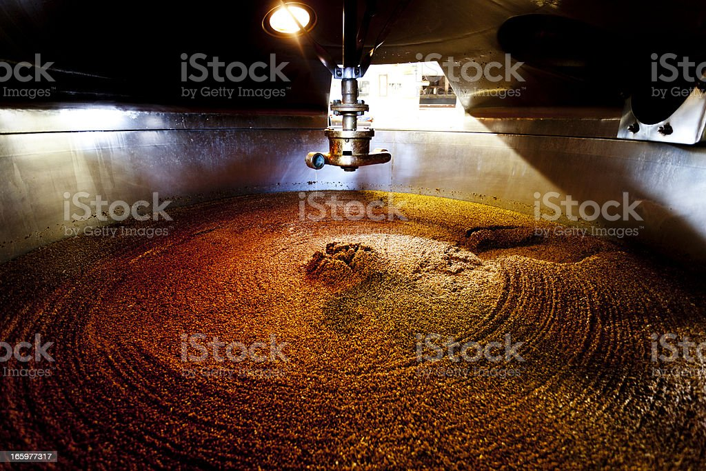 Mash tun and dissolving vat stock photo
