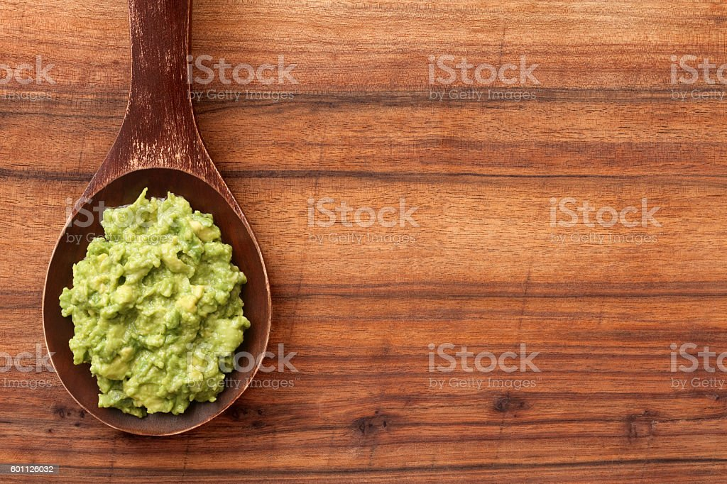 Mashed avocado stock photo
