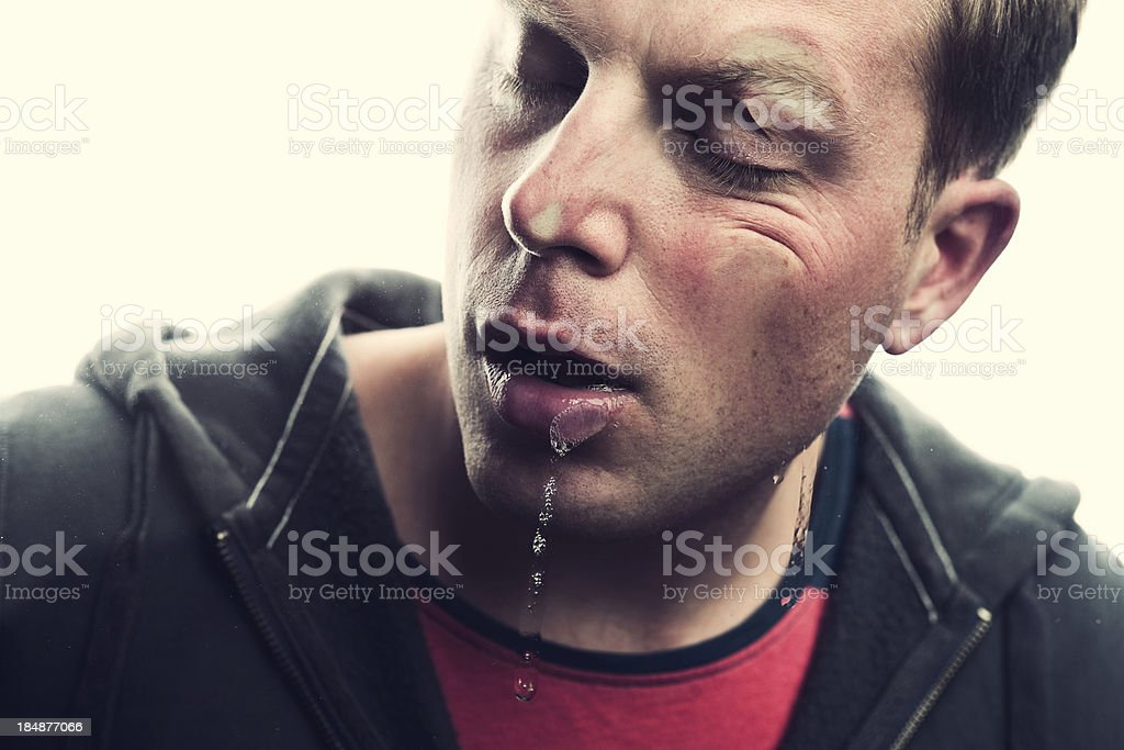mashed face stock photo