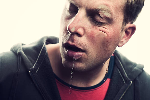mashed face - human saliva stock pictures, royalty-free photos & images