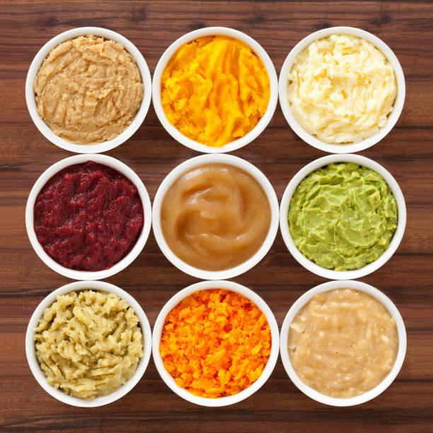 mashed foods - puree zdjęcia i obrazy z banku zdjęć