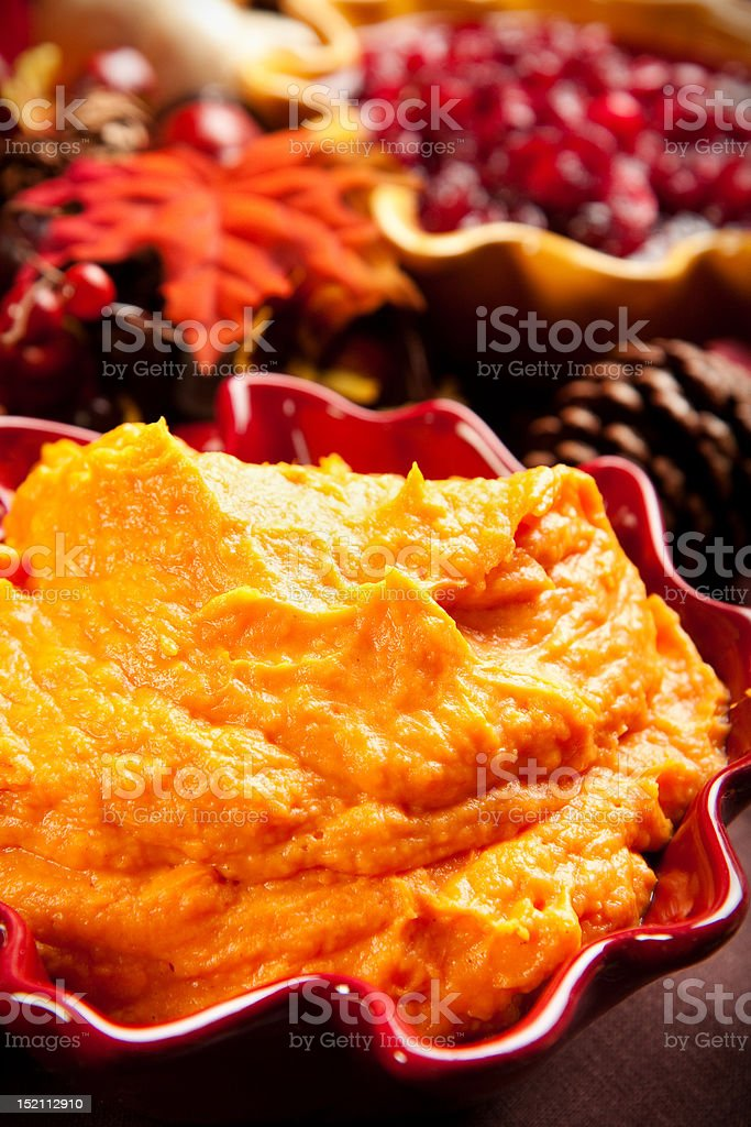 Mashed Sweet Potatoes stock photo
