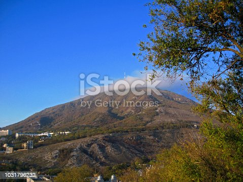 Mashuk mountain and small white cloud