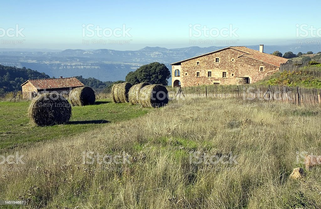 Masia in Catalonia, Spain royalty-free stock photo