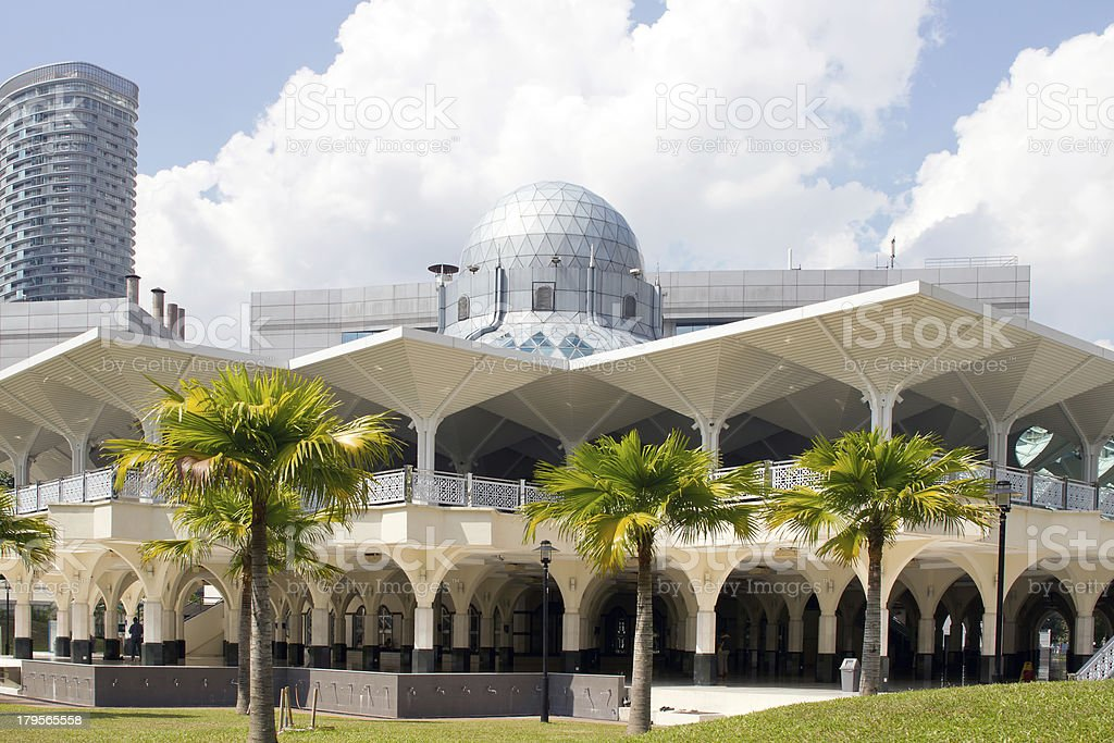 Masjid Asy-Syakirin Mosque in Kuala Lumpur royalty-free stock photo