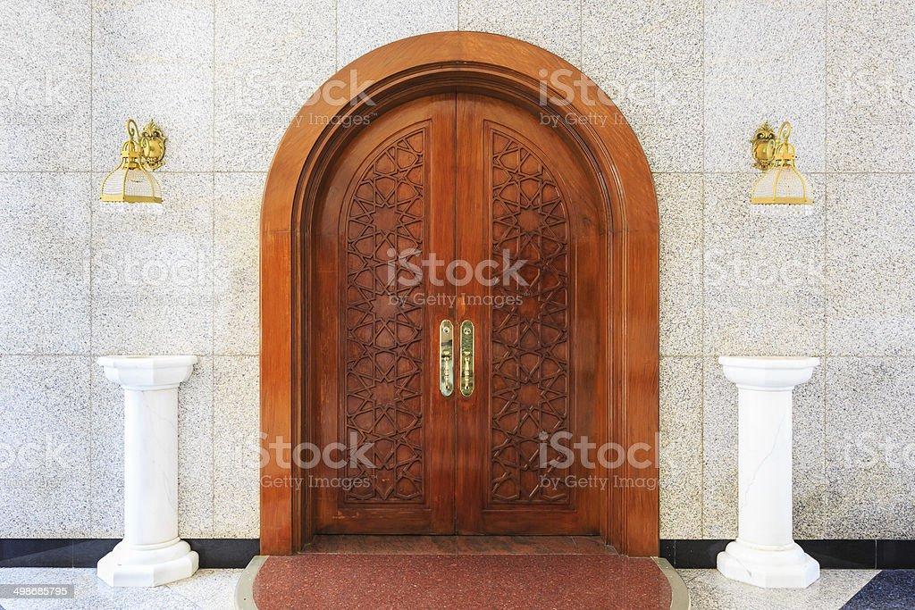 masjid door stock photo