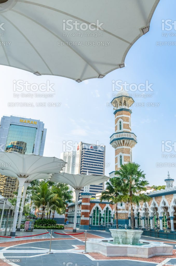 Masjid Jamek Mosque Which Is Located At The Heart Of Kuala Lumpur