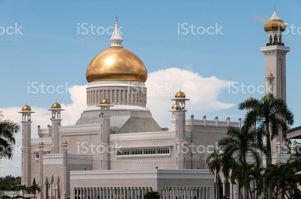 Masjid Omar 'Ali Saifuddien Mosque stock photo