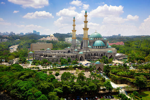 masjid welaayat persekutan - revierverhalten stock-fotos und bilder