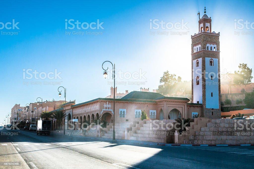 Masjit of Ouarzazate stock photo