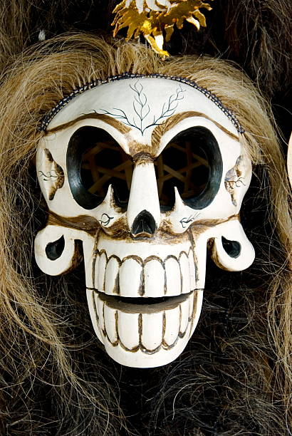 mask 05 - demoniac stock pictures, royalty-free photos & images