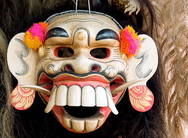 mask 06 - demoniac stock pictures, royalty-free photos & images