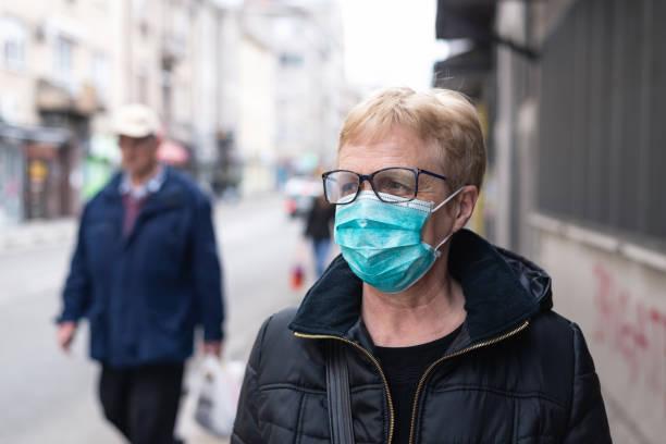 Mask against Coronavirus stock photo