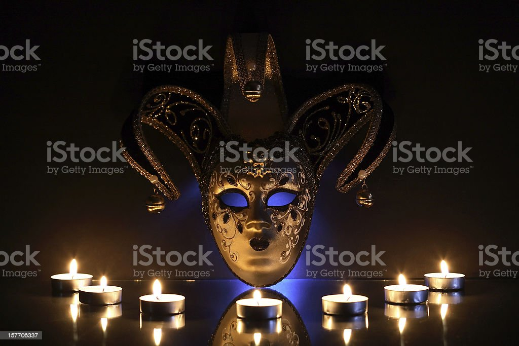 Mask And Candles royalty-free stock photo