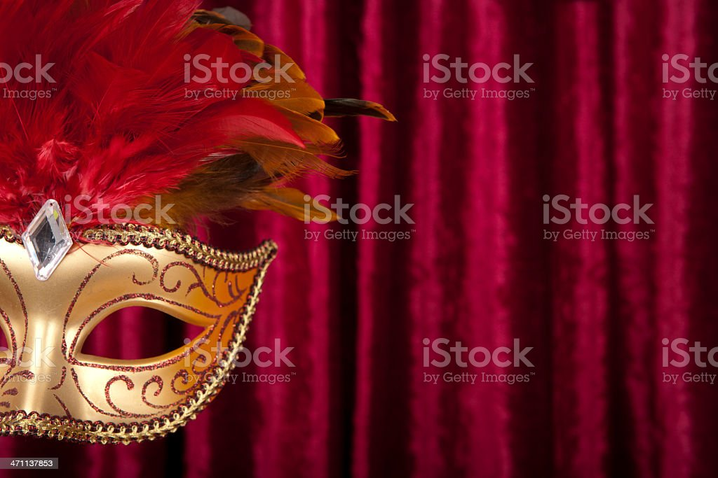 Mask and curtain royalty-free stock photo