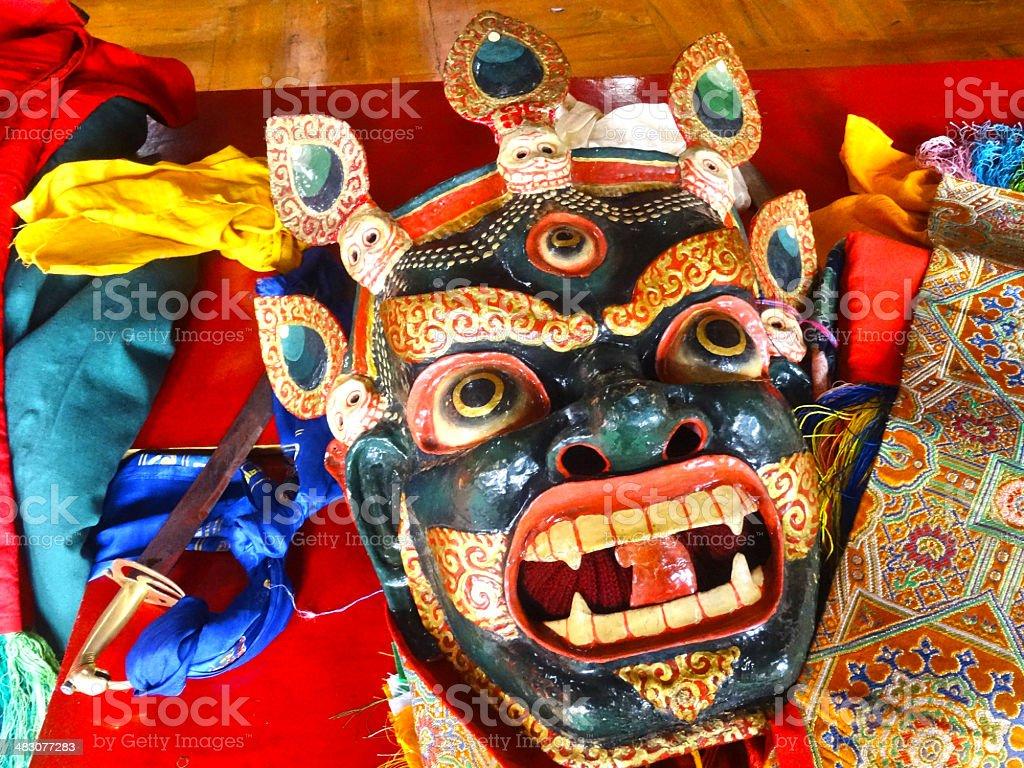 Mask, cham dance stock photo
