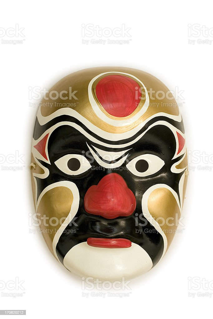 mask - chinese-gold royalty-free stock photo