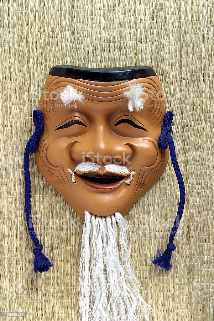 Mask elderly man stock photo