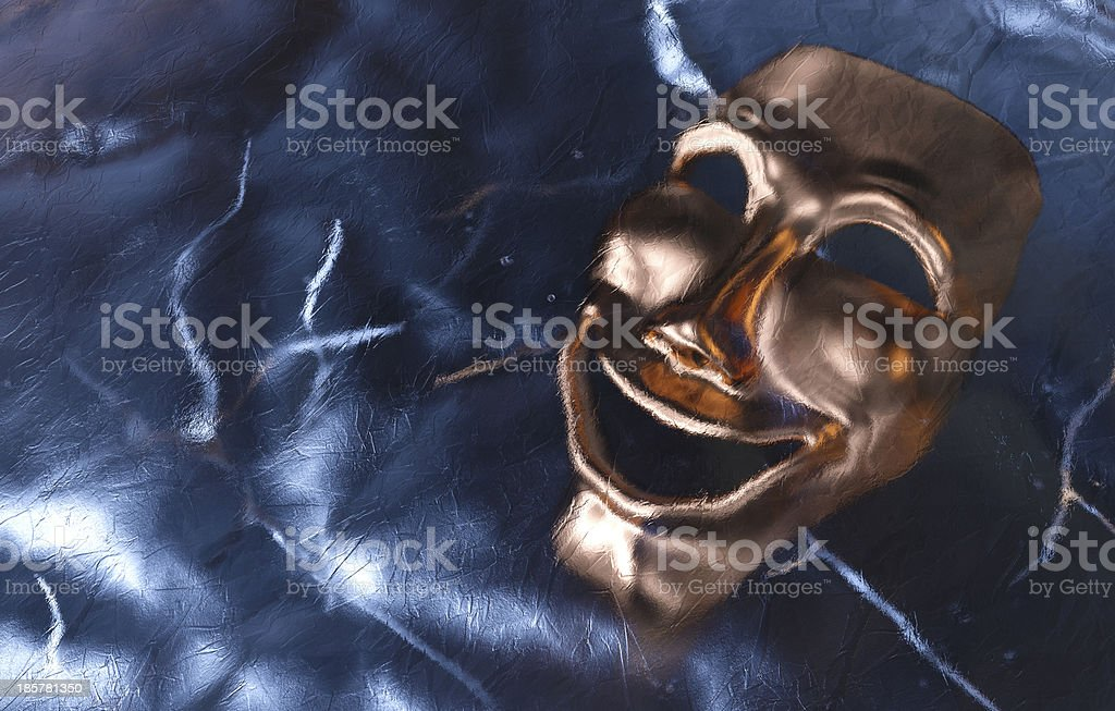 Mask Frozen in Ice royalty-free stock photo