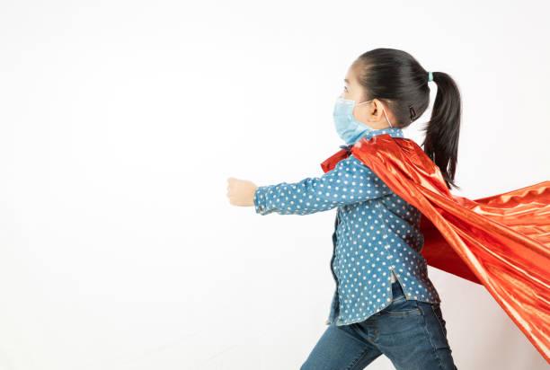 mask hjälte flicka - superwoman barn bildbanksfoton och bilder