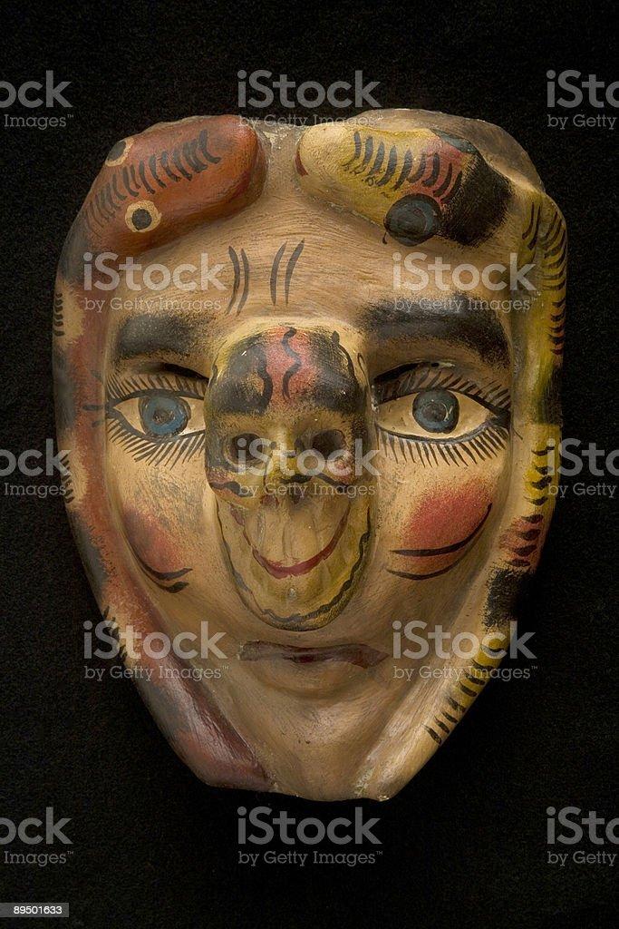 Mask isolated on black royalty-free stock photo