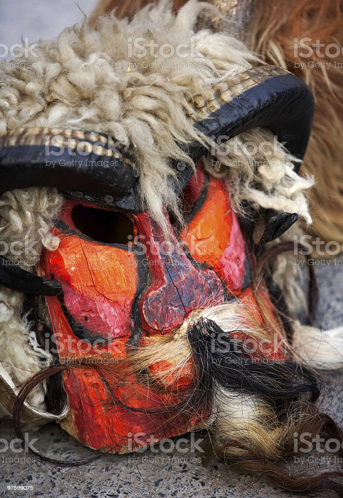 Mask of a kuker, Bulgarian tradition royalty-free stock photo