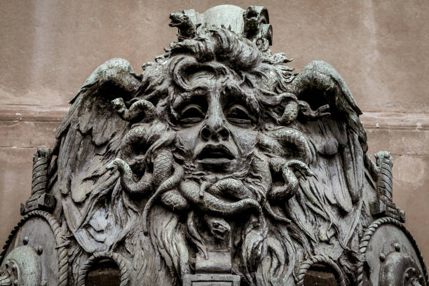 Mask of Medusa stock photo