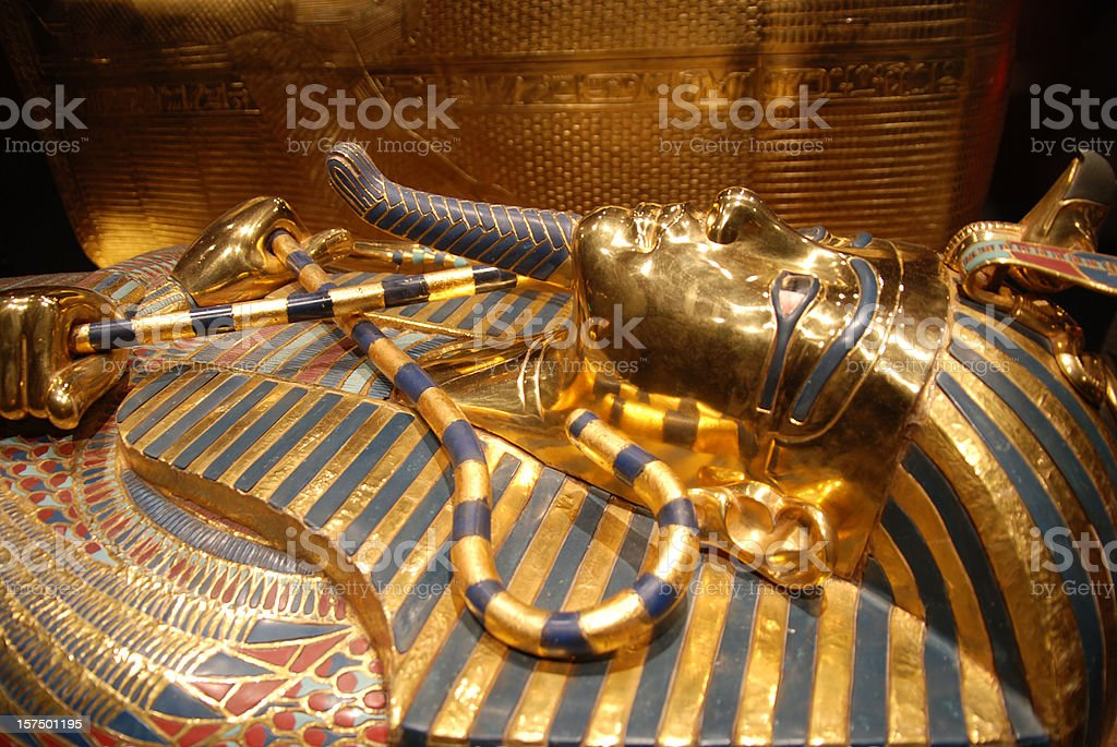 mask of Tutankhamun, egyptian pharaoh stock photo