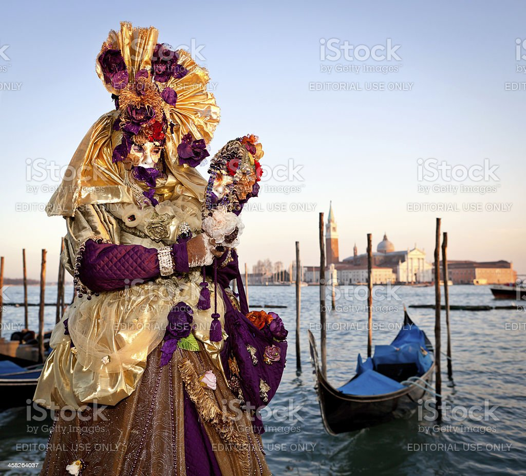 Mask on Venetian carnival, Venice, Italy royalty-free stock photo