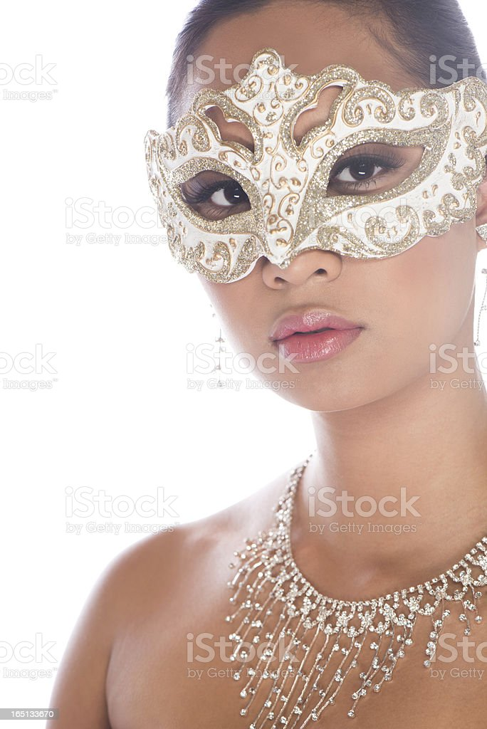 Masked Beauty stock photo