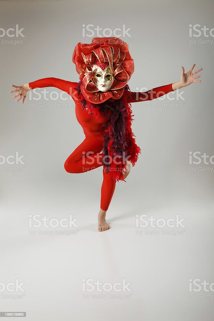 Masked Dancer royalty-free stock photo
