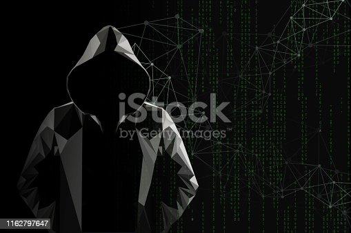 Hacker concept. Mixed Media.