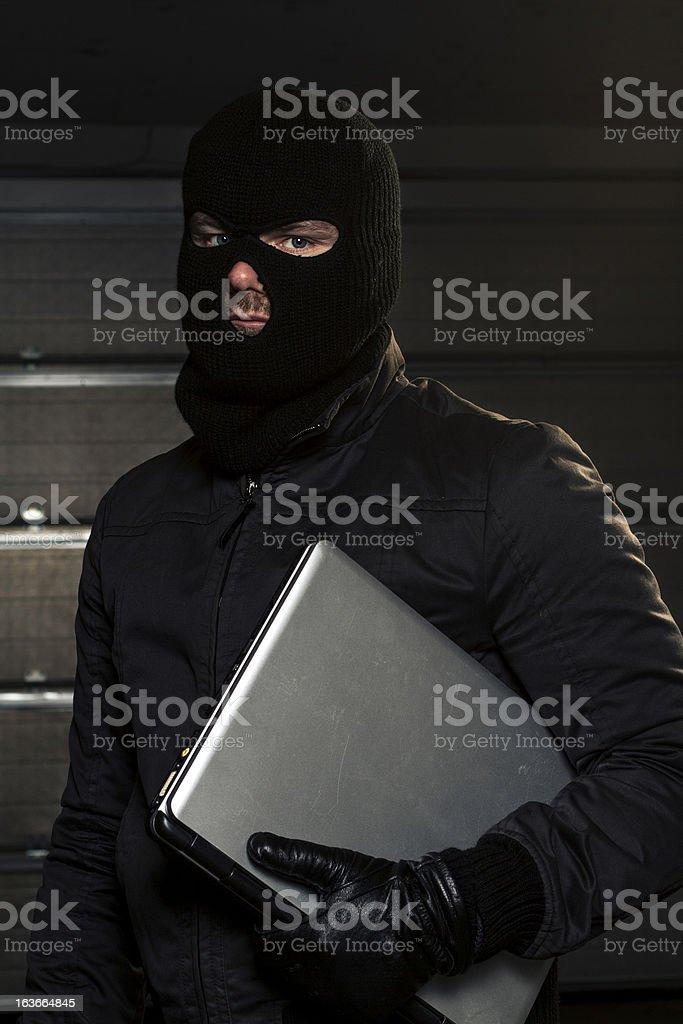 masked hacker royalty-free stock photo