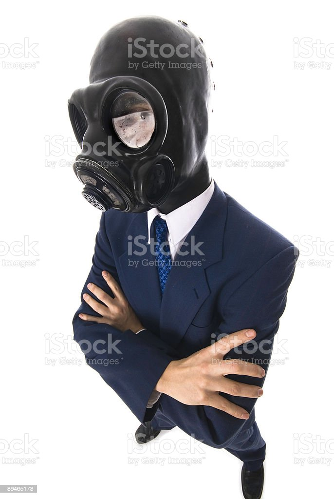 Masked man royalty-free stock photo